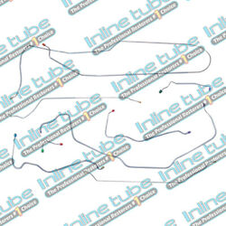1969 69 Chevy Elcamino Only Front Power Disc Brake Line Kit Set Tubes Lines Ss