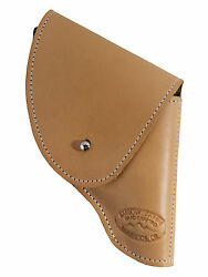 New Barsony Natural Tan Leather Flap Holster Snub Nose 2