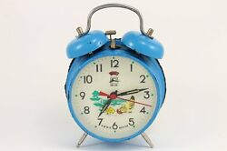 Vintage Fei Lu Animated Pecking Chicken Hen Double Bell Alarm Clock China