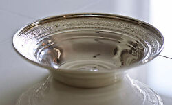 Antique Sterling Silver Serving Bowl By M. Fred Hirsch Circa 1920s 101 Grams