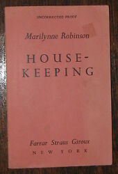 Marilynne Robinson Housekeeping Rare Uncorrected Proof Great American Novel