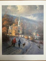 A Time Of Grace G Harvey 26x22 Paper Signed 1997 Focus On The Family