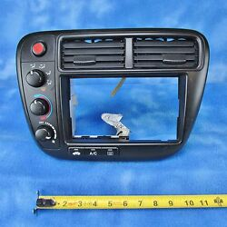 99-00 Honda Civic Climate Control w Bezel & Vents S04-A0 1KM071 OEM Used 245