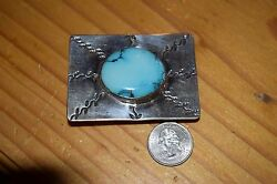 TOP GRADE BELT BUCKLE EASTER BLUE TURQUOISE STONESIGNED