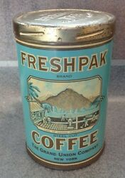 Graphic Old Freshpack Coffee Tin