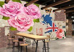 3d Flag Flowers 144 Wall Paper Wall Print Decal Wall Deco Indoor Wall Mural