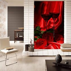 3d Red Rose Glasses Wall Paper Wall Print Decal Wall Deco Indoor Wall Mural