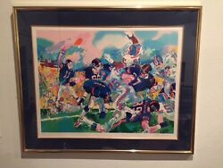 Leroy Neiman Giants-broncos Classic Football Hand Signed Last Reduced Price