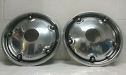 1967-72 Chevrolet Or Gmc 1/2-ton 4x4 Pickup Front Open-hub Wheel Covers A Pair