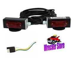 Towmate Wired Magnetic Led Lights W/ 4 Pin Flat Plug - Wrecker Tow Truck Towing