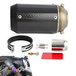 51mm Slip-On Carbon Fiber Muffler For 125-1200CC StreetSportRacing motorcycles
