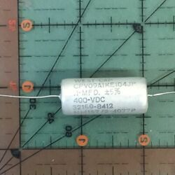 .1uf 400v 5 West Cap Axial Film Capacitor Cpv09a1ke104jp Mil Audio 100nf 125and039c