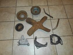 1966 Pontiac Gto Lemans Fan Alternator And Power Steering Pulleys And Brackets