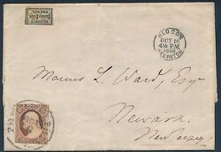 11 And 15l14 On Folded Letter Bloodand039s Despatch Oct 16 1856 To New Jersey Bt7249