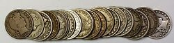 1895 Barber Half Dollar 50c Roll 20 Circulated 90 Old Silver Coins Lot