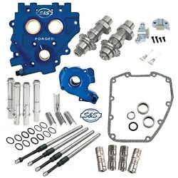 S&S 585C Chain Drive Cam Camchest Kit w Pushrods Oil Pump Plate Harley 07-17