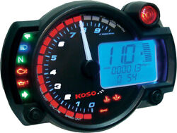 Koso Ba015b25 Rx-2n Gp Style Multi-function Gauge 19000 Rpm - Black Panel