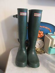 Vintage Hunter Tall Green Boots Wellies Womenand039s Us Size 5 Made In Scotland