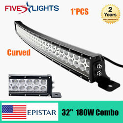 Curved 32inch 180w Led Light Bar Offroad Bumper Gmc Ute Truck Atv 4wd Truck 30