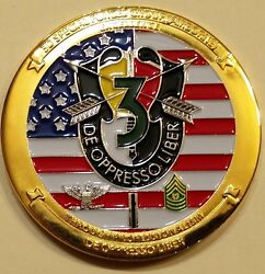 3rd Special Forces Gp Airborne Commander Ser617 Army Challenge Coin