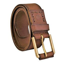 Timberland Men#x27;s Casual 40MM Pull Up Genuine Leather Jean Belt $19.99