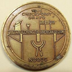 Berlin Brigade Military Police Mp Checkpoint Bravo Ncoic Army Challenge Coin