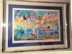 Leroy Neiman American Gold Olympic Medalist Ap 100 Signed Serigraph 6800