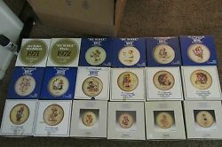 H.i. Hummel Collectable Plates 1971-1988 In Original Boxes 18 Pieces