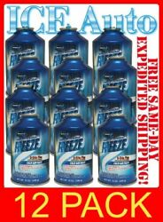 12 CANS Johnsen's FREEZE PLUS R-134a AC Refrigerant 12 oz - 1 CASE