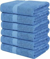 Pack 6 Cotton Bath Towels 22x44 Inch Super Absorbent For Pool Spa Utopia Towels $25.99