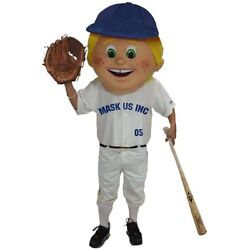 Baseball Kid Professional Quality Mascot Head Only