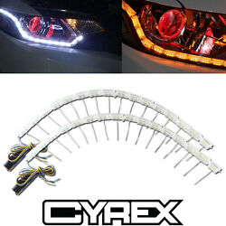 2 LED STRIP SWITCHBACK LIGHTS FOR HEADLIGHT RETROFIT MODS W SEQUENTIAL SIGNAL P4