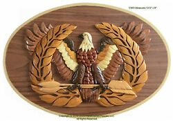 Chief Warrant Officer Emblem Army Cwo Handcrafted Military Wood Art Plaque