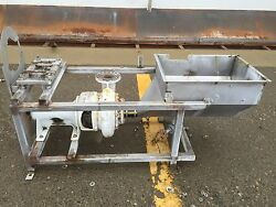 Fairbanks Morse 4 Food Pump With Ss Frame And Tank
