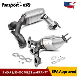 Front And Rear Exhaust Catalytic Converter Manifold For 01-06 Ford Escape 3.0l V6