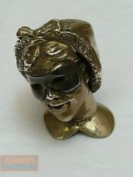 Frauenkopf Silber Maske Colombina Womans Head Silver Mask Collectible