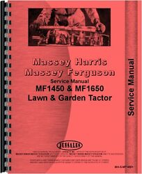 Massey Ferguson 1450 1650 Lawn And Garden Tractor Service Manual Mh-s-mf1450+