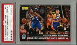 2016 Panini Instant Golden State Psa 10 Curry, Durant Limited Print Run