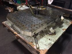 Peiseler Atsp 500s Rotary Table 26 X 38 Table Size Mfgand039d 1995 Used