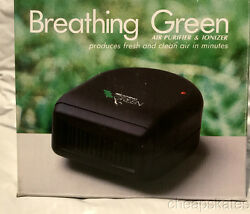 Breathing Green Air Purifier And Ionizer For Homecaroffice Portablefresh Air
