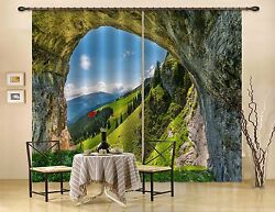 3d Cave Sky 25 Blockout Photo Curtain Printing Curtains Drapes Fabric Window Au