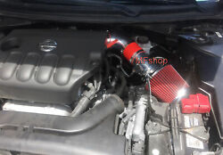 Red For 2PC 2007 2012 Nissan Altima 2.5L L4 Air Intake Kit Filter $49.99
