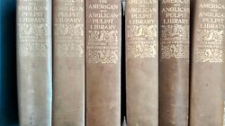 The American And Anglican Pulpit Library- Six Books Very Rare