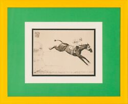 Paul Brown Signed Steeplechaser Drypoint