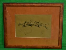 'three Maryland Hunt Cup Steeplechasers Drypoint' By Paul Brown