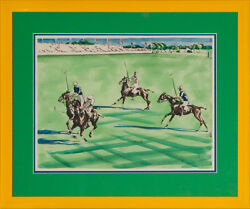 Four Meadow Brook Polo Players At The International Cup By Joseph Golinkin