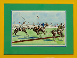 Two Meadow Brook Polo Players By Joseph Golinkin