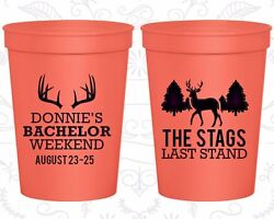 Bachelor Party Plastic Cups Cup Favors 40033 The Stags Last Stand Hunting