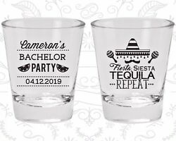 Bachelor Party Shot Glasses Favors 40000 Fiesta Siesta Tequila Repeat Mexican