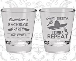 Bachelor Party Shot Glasses Favors 40003 Fiesta Siesta Tequila Repeat Mexican